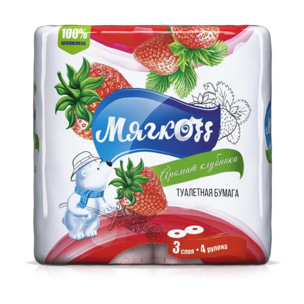 """Туалетная бумага """"Мягкоff""""аромат клубники"""