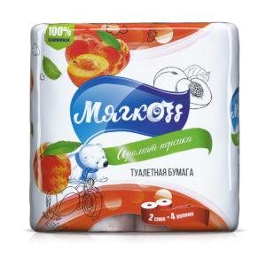 """Туалетная бумага """"Мягкоff""""аромат персика"""