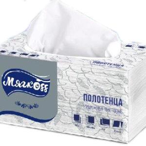 """Бумажные полотенца """"Мягкоff""""V-сложение"""