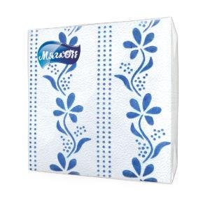 """Салфетки""""Мягкоff""""синий цветок"""