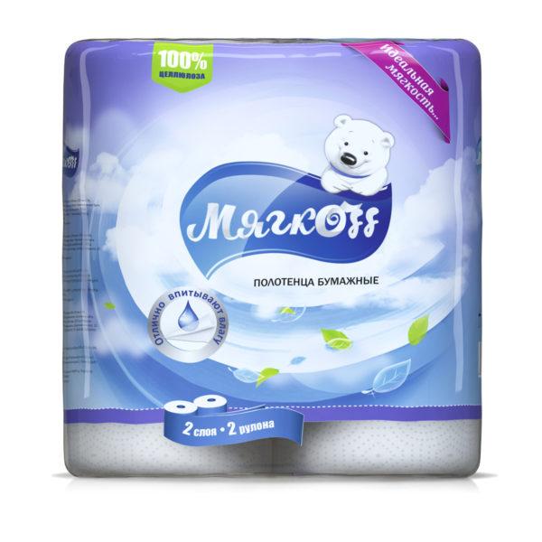 "Бумажные полотенца ""Мягкоff""белые"